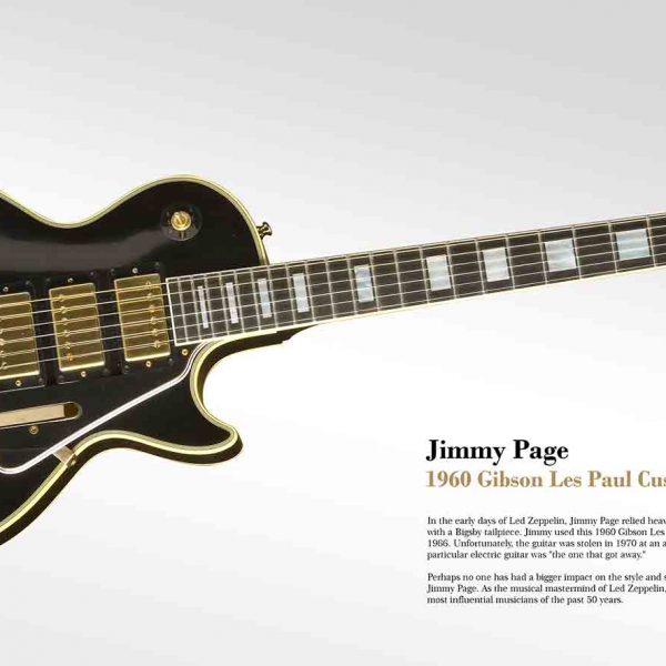 Jimmy Page Gibson Guitar Postercity